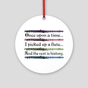 Flute Fairytale Ornament (Round)