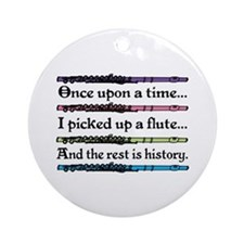 Flute Fairytale Ornament (Round)