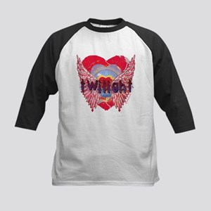 Twilight Mystic Crimson Heart Wings Kids Baseball