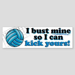 Bust Mine Vball Bumper Sticker