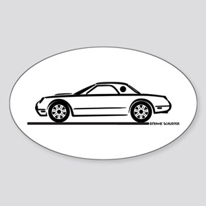 2002 05 Ford Thunderbird Hardtop Oval Sticker
