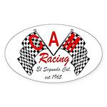CAM Racing (retro) Oval Sticker (10 pk)