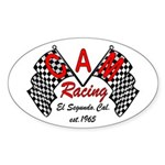 CAM Racing (retro) Oval Sticker