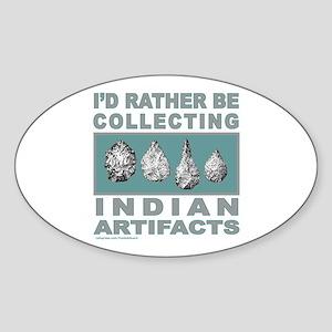 ARROWHEAD COLLECTOR Oval Sticker