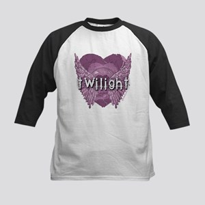 Twilight Violet Shadows Winged Crest Kids Baseball