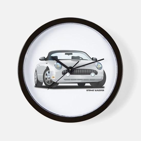 2002 05 Ford Thunderbird White Wall Clock