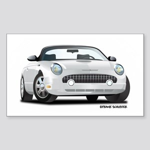 2002 05 Ford Thunderbird White Rectangle Sticker