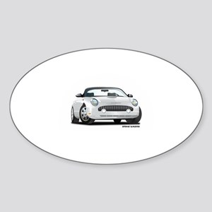 2002 05 Ford Thunderbird White Oval Sticker