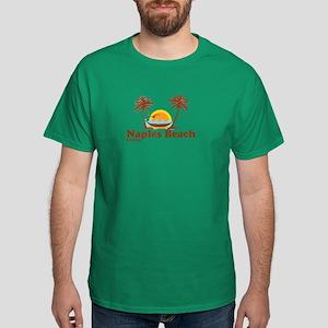 Naples Beach FL - Sun and Palm Trees Design Dark T