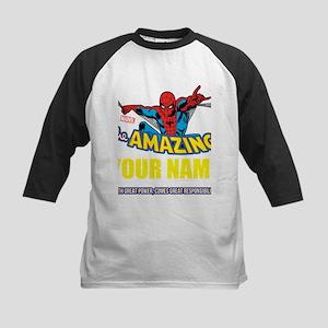 Personalized Amazing Spiderman Kids Baseball Tee