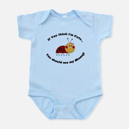 Ladybug Infant Bodysuit-Cute Ninong