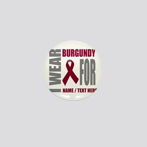 Burgundy Awareness ribbon Mini Button