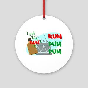 RUM pum pum Ornament (Round)