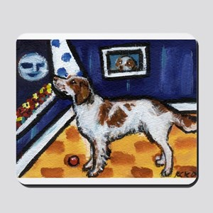 Irish Red & White Setter art Mousepad