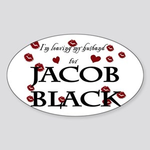 Leaving husband for Jacob Oval Sticker