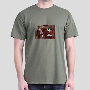 Cats on a Bench Dark T-Shirt