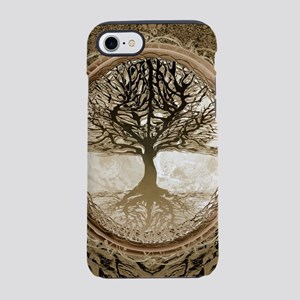 Tree of Life in Brown iPhone 7 Tough Case