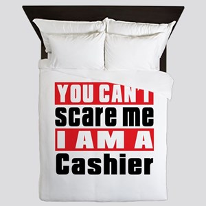 You Can Not Scare Me Cashier Queen Duvet