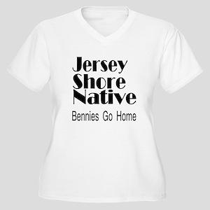I'm a Native! Women's Plus Size V-Neck T-Shirt
