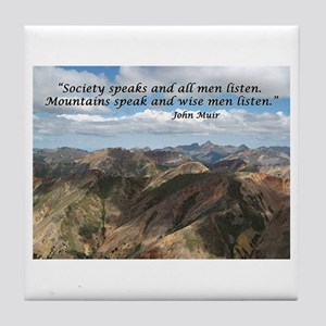 Mountains Speak Tile Coaster
