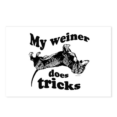 My weiner does tricks ~ Postcards (Package of 8)