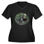 Buck and Doe Women's Plus Size V-Neck Dark T-Shirt