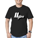 11 Alive BW: Men's Fitted T-Shirt (dark)