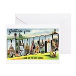 Greetings from Minnesota Greeting Cards (Pk of 10)