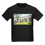 Greetings from Minnesota Kids Dark T-Shirt