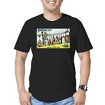 Greetings from Minneso Men's Fitted T-Shirt (dark)