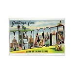 Greetings from Minneso Rectangle Magnet (100 pack)