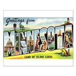 Greetings from Minnesota Small Poster