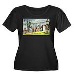 Greeting Women's Plus Size Scoop Neck Dark T-Shirt