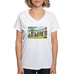 Greetings from Minnesota Women's V-Neck T-Shirt