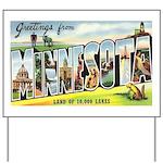 Greetings from Minnesota Yard Sign