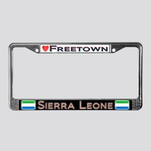 Freetown, SIERRA LEONE - License Plate Frame