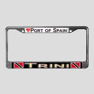 Port of Spain, TRINI - License Plate Frame