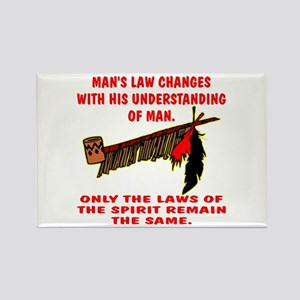 Man's Law or Spirit Law Rectangle Magnet