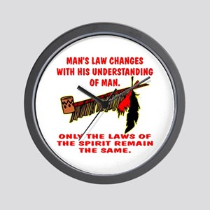Man's Law or Spirit Law Wall Clock