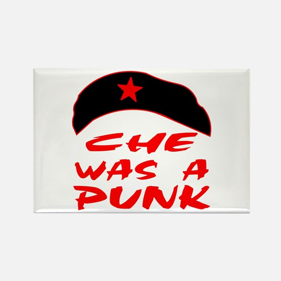 Che Was A Punk Rectangle Magnet