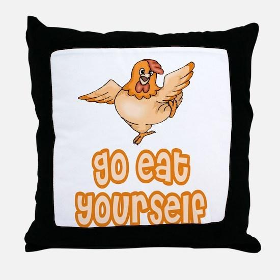 Go Eat Yourself Throw Pillow