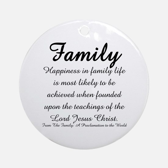 Family Ornament (Round)