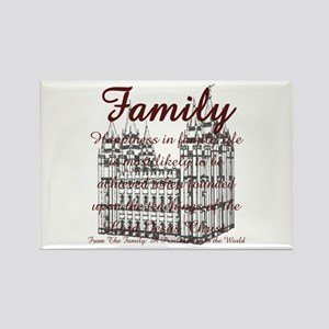 Family with SLC Temple Rectangle Magnet (10 pack)