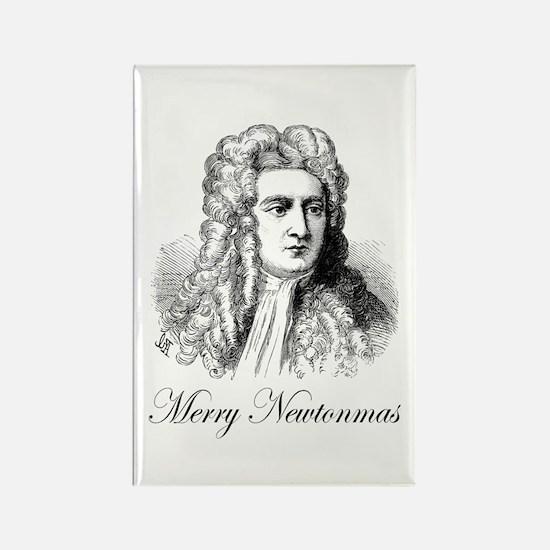Merry Newtonmas Rectangle Magnet