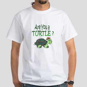 turtle w/back design White T-Shirt