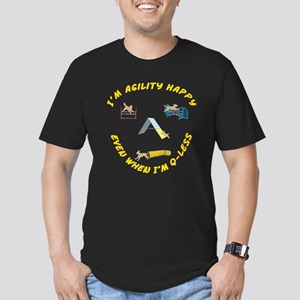 Agility Happy Men's Fitted T-Shirt (dark)