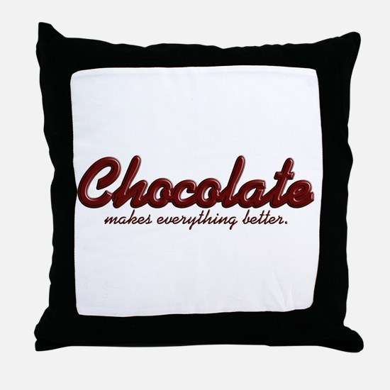 Better Chocolate Throw Pillow