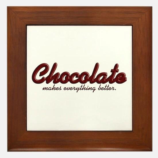 Better Chocolate Framed Tile