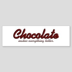 Better Chocolate Bumper Sticker