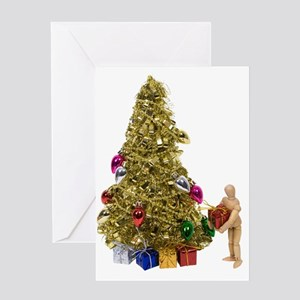 Present under the Christmas t Greeting Card